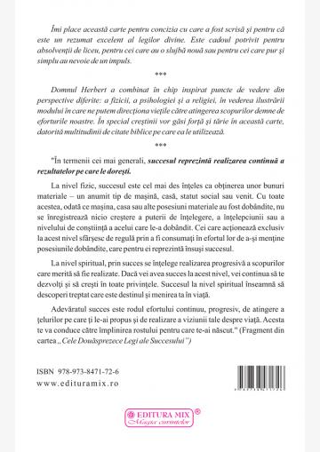 Coperta 4 a cărții Cele 12 legi universale ale succesului