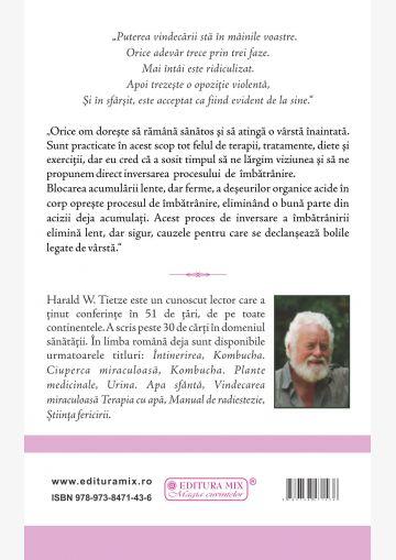 """Coperta 4 a cărții """"Întinerirea. Cum să inversăm procesul de îmbătrânire"""""""