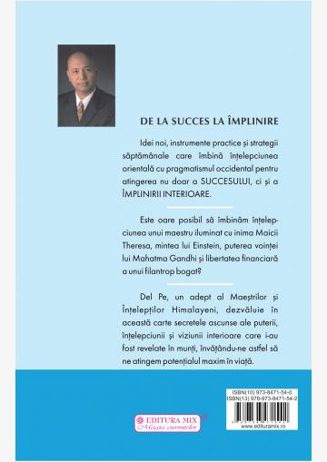 """Coperta 4 a cărții """"De la succes la împlinire"""""""