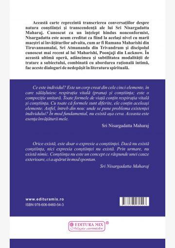 """Coperta 4 a cărții """"Experiența vidului. Conversații despre realizarea infinitului"""""""