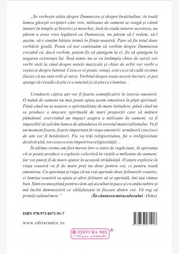 """Coperta 4 a cărții """"În căutarea miraculosului"""""""