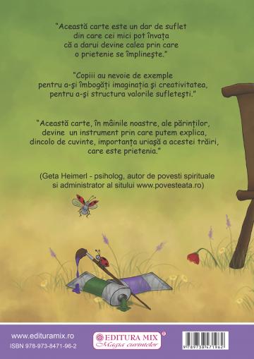 """Coperta 4 a cărții """"Inspirația"""""""