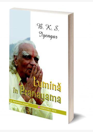"""Coperta 3D a cărții """"Lumină în pranayama"""""""