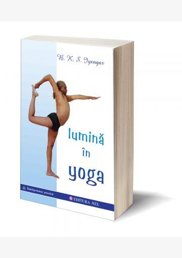 """Coperta 3D a cărții """"Lumină în Yoga"""""""