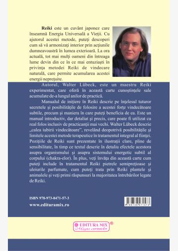 """Coperta 4 a cărții """"Reiki. Manual de inițiere"""""""