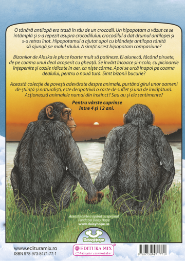 """Coperta 4 a cărții """"Și animalele au sentimente?"""""""