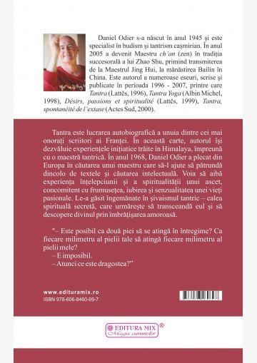 """Coperta spate a cartii """"Tantra. Dimensiunea sacra a erotismului"""" de Daniel Odier"""