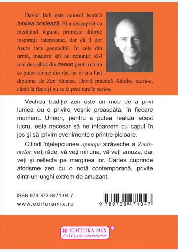 "Coperta 4 a cărții ""Zenisme"""