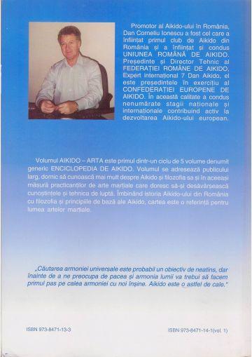"""Coperta 4 a cărții """"Enciclopedia de Aikido - Vol.1"""""""