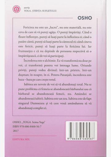 """Coperta 4 a cărții """"Inima Yoga"""""""