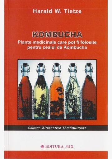"""Coperta 1 a cărții """"Kombucha. Plante medicinale"""""""