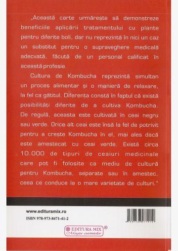 """Coperta 4 a cărții """"Kombucha. Plante medicinale"""""""