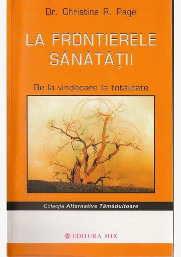 """Coperta 1 a cărții """"La frontierele sănatății"""""""