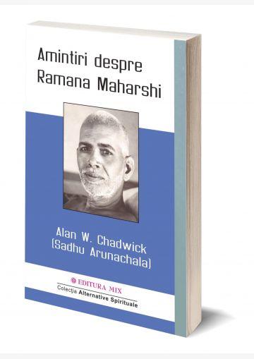 Coperta 3D a cărții Amintiri despre Ramana Maharshi